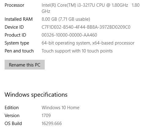Feature update to Windows 10, version 1803 - Error