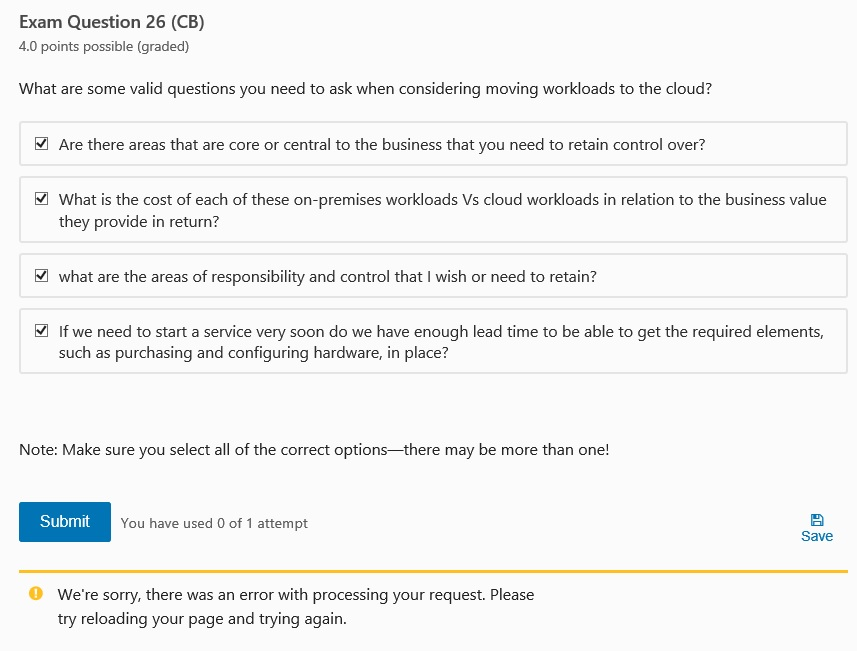 Azure214x Final Check Button Is Absent Training Certification