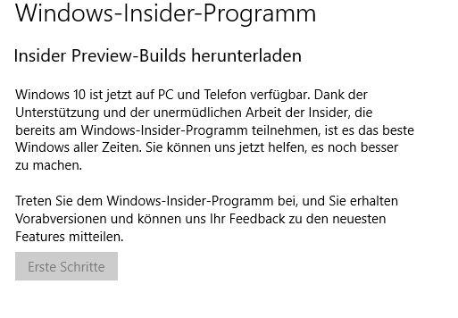 Insider Preview-Build herunterladen