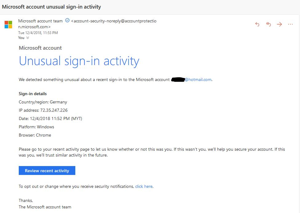 hotmail mail sign in