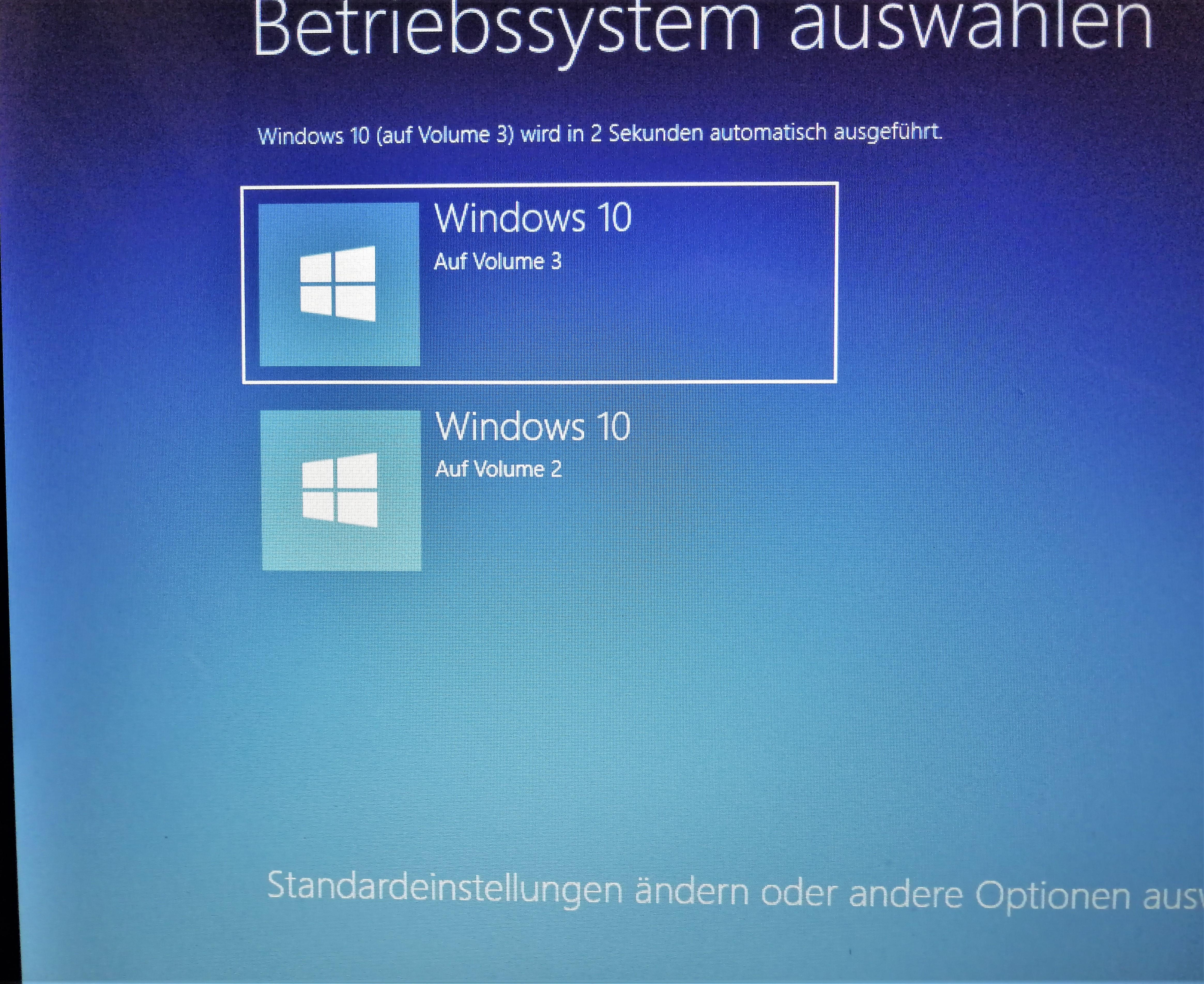 Windows 10 Home neu aufgesetzt.