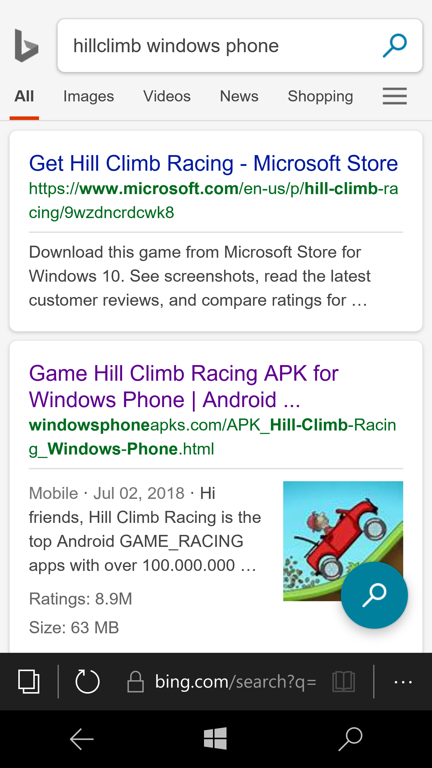 How can I install the old Hillclimb Racing game on my unlocked