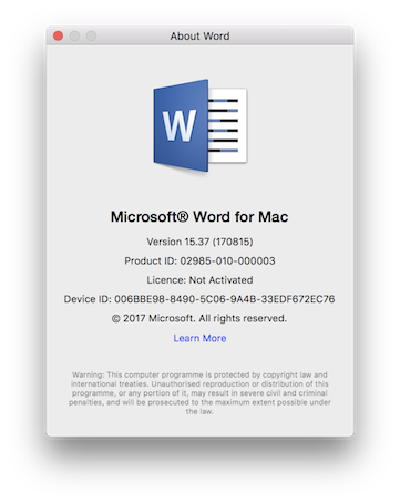 Office 365 For Mac Version Number