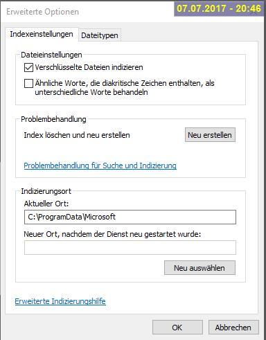 Windows Suche sucht nur noch online, anstatt lokal