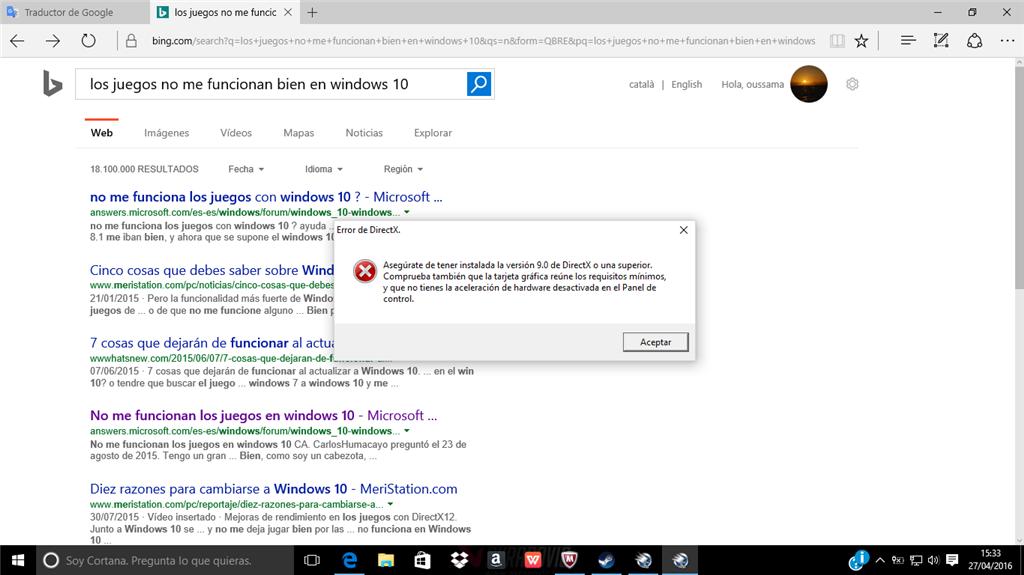 Los Juegos Casi El 90 No Funcionan En Windows 10 Microsoft Community