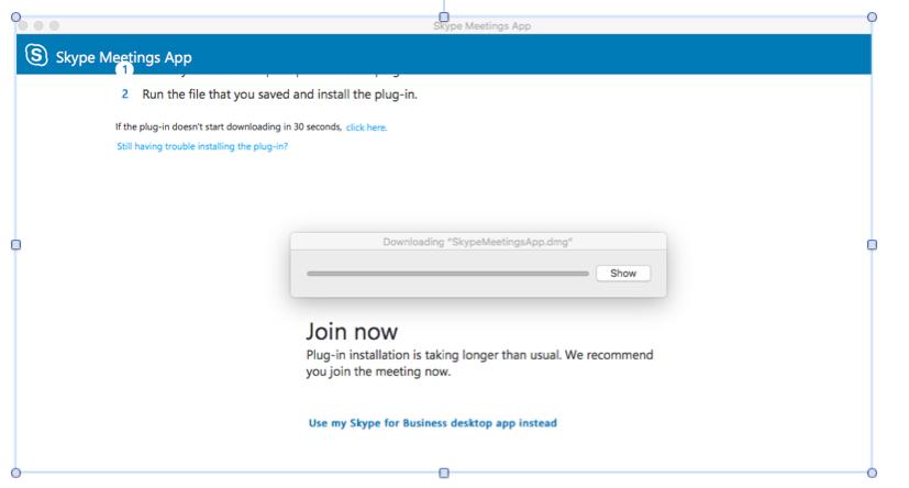 cannot install skype meetings app