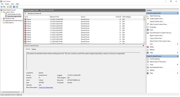 kernel power 41 windows 10