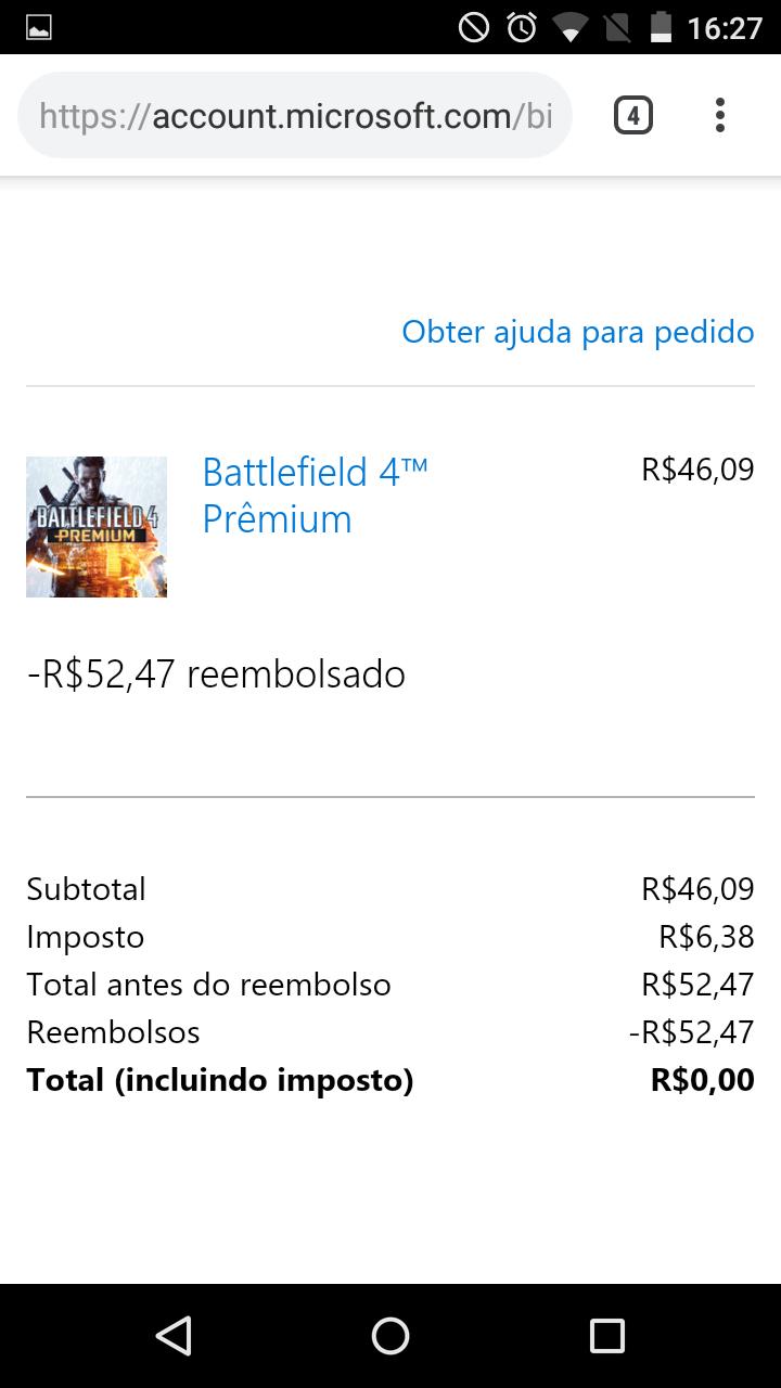 Não recebi o dinheiro do reembolso (I did not receive the refund money) [IMG]