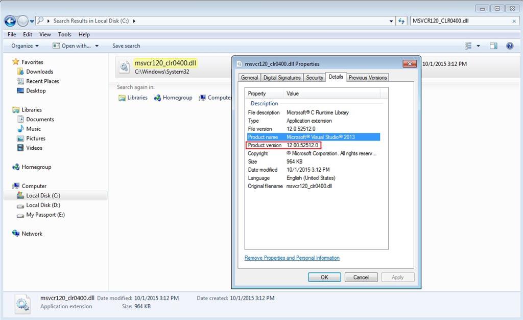 download msvcr120.dll microsoft