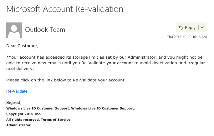 ab8c5d5ddc7 Microsoft Account Revalidation? Is this a real email? - Microsoft ...