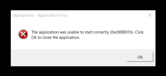 0xc000007b error on several programs after upgrading to Windows