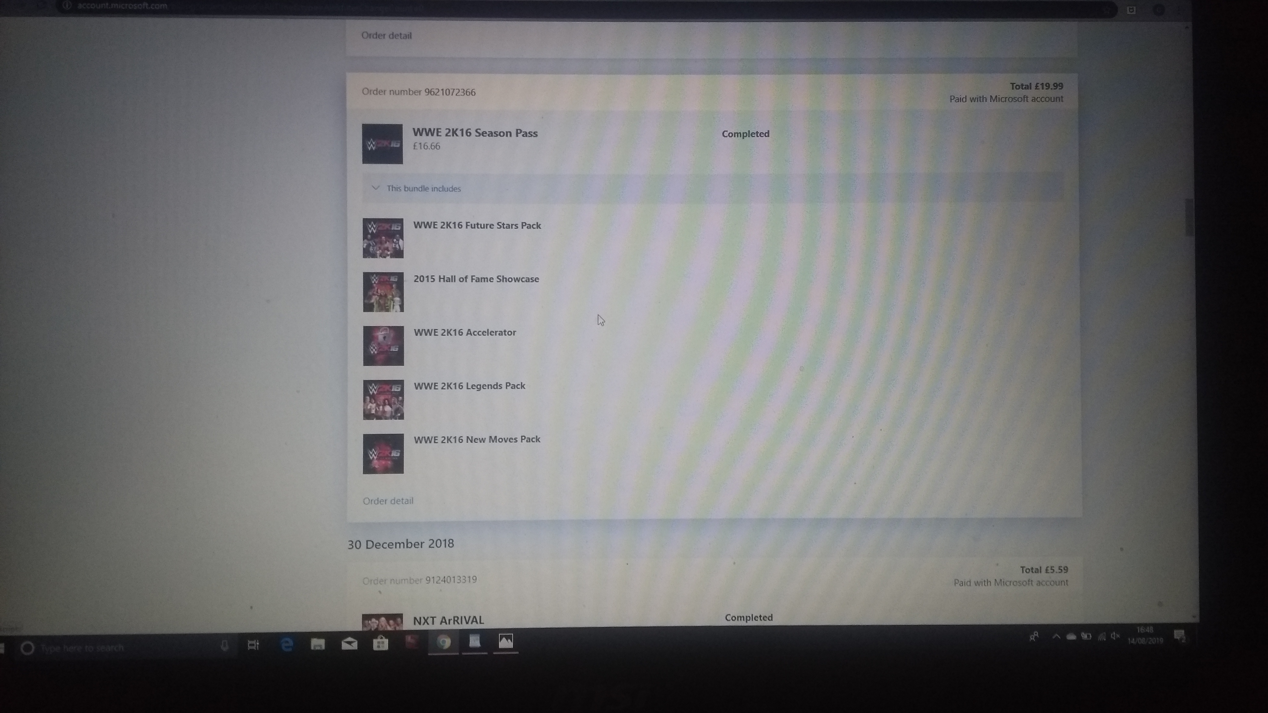 WWE 2K16 and WWE 2K17 doesn't show up on ready to install despite purchase complete on... [IMG]