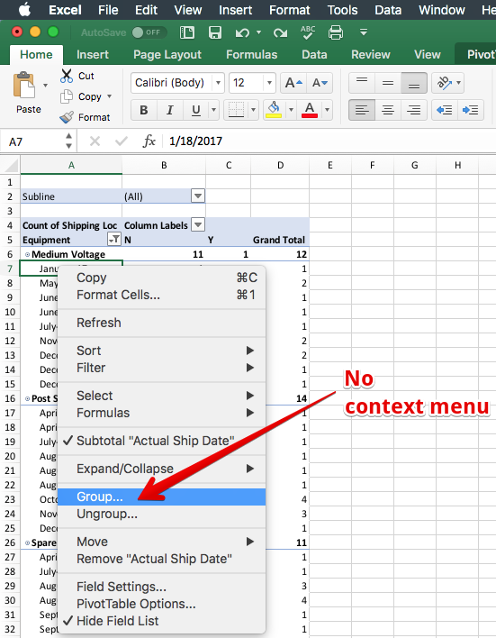 mac excel pivot table sort by total