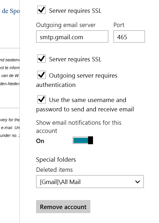 windows 8 how to add gmail account
