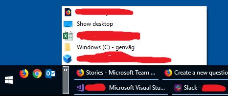 Windows 10 taskbar double height