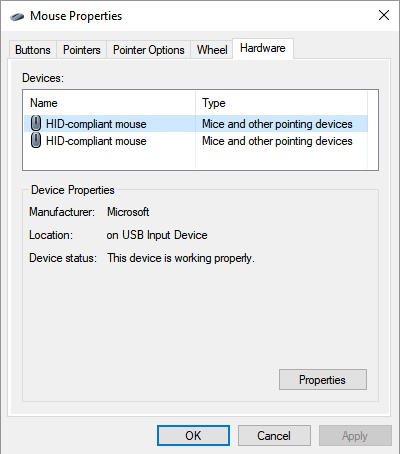 PS/2 touchpad device not showing up in the device Manager