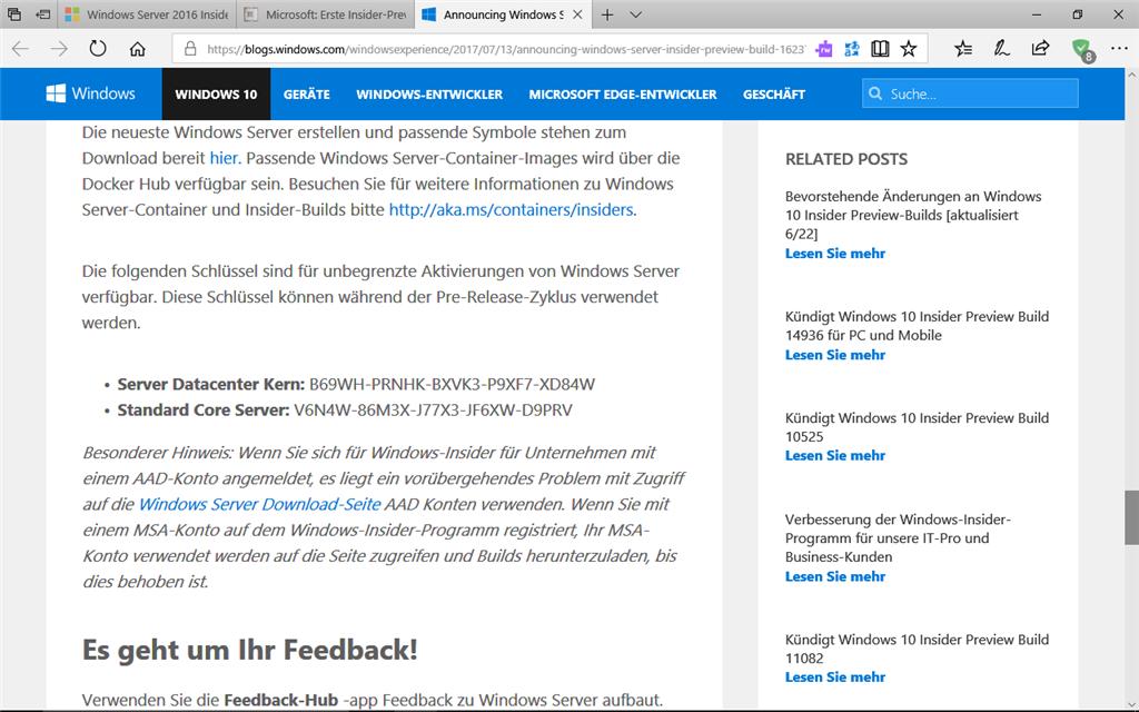 Windows Server 2016 Insider Preview