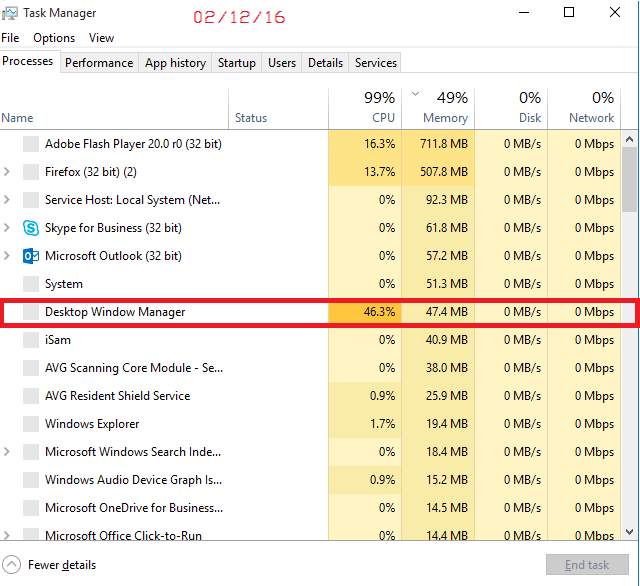why is my cpu usage so high windows 10