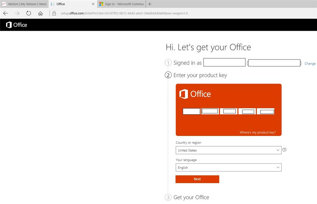 When Installing Microsoft Office Professional Plus 2016 No