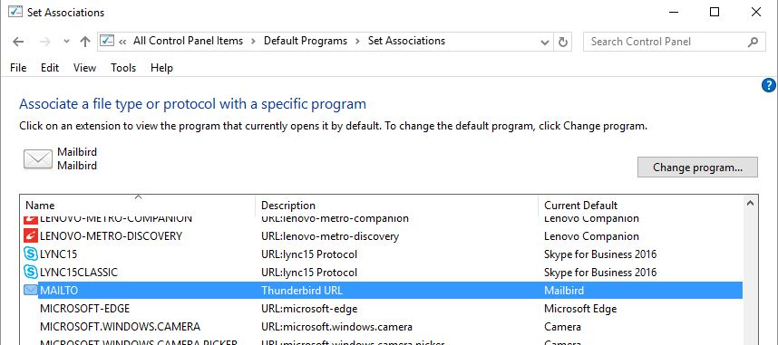 No email programme associated    - Microsoft Community