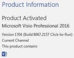 UML 2 5 Templates not available in Visio Pro 2016