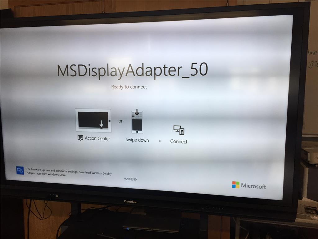 computer will not connect to wireless display