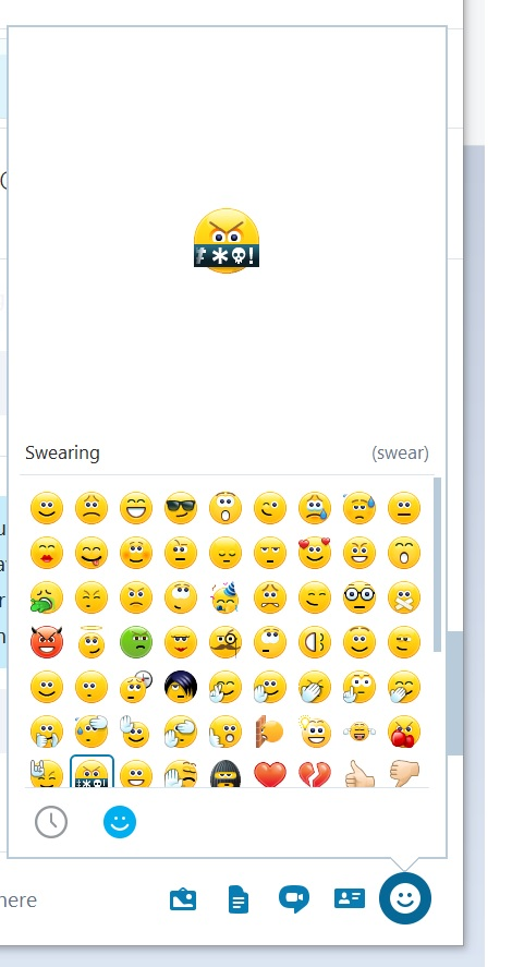 skype for business emoticons not working