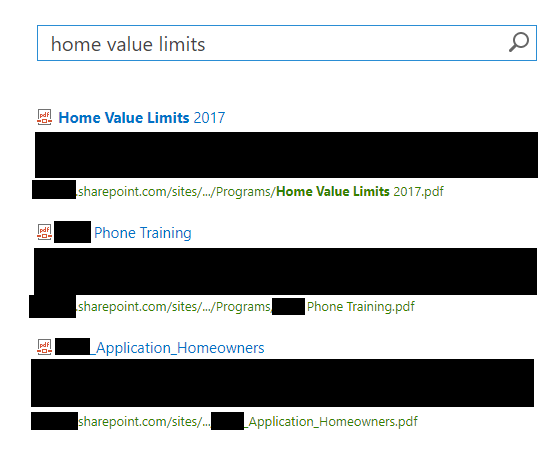 SharePoint Online Search - document not returning in a
