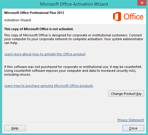 microsoft excel product activation failed fix