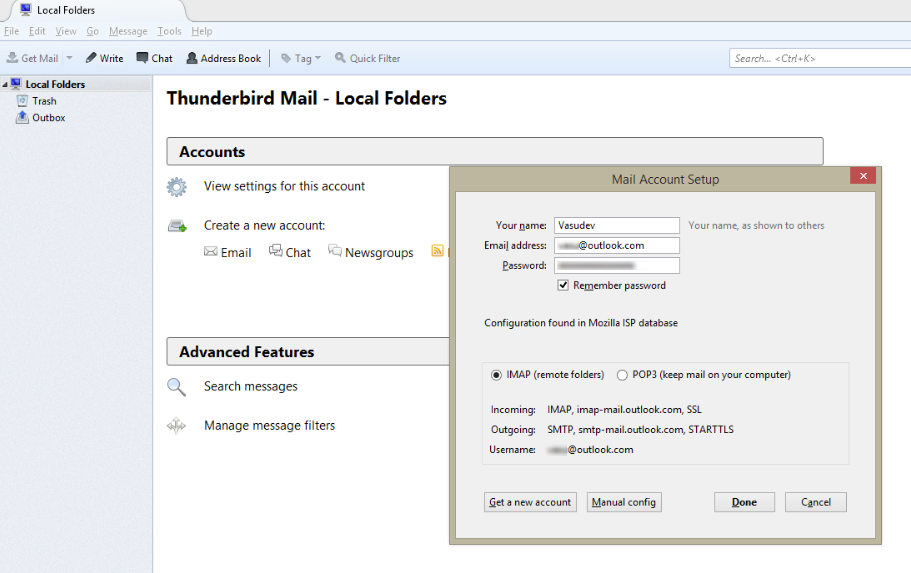 How to set up Mozilla Thunderbird to sync Outlook com account