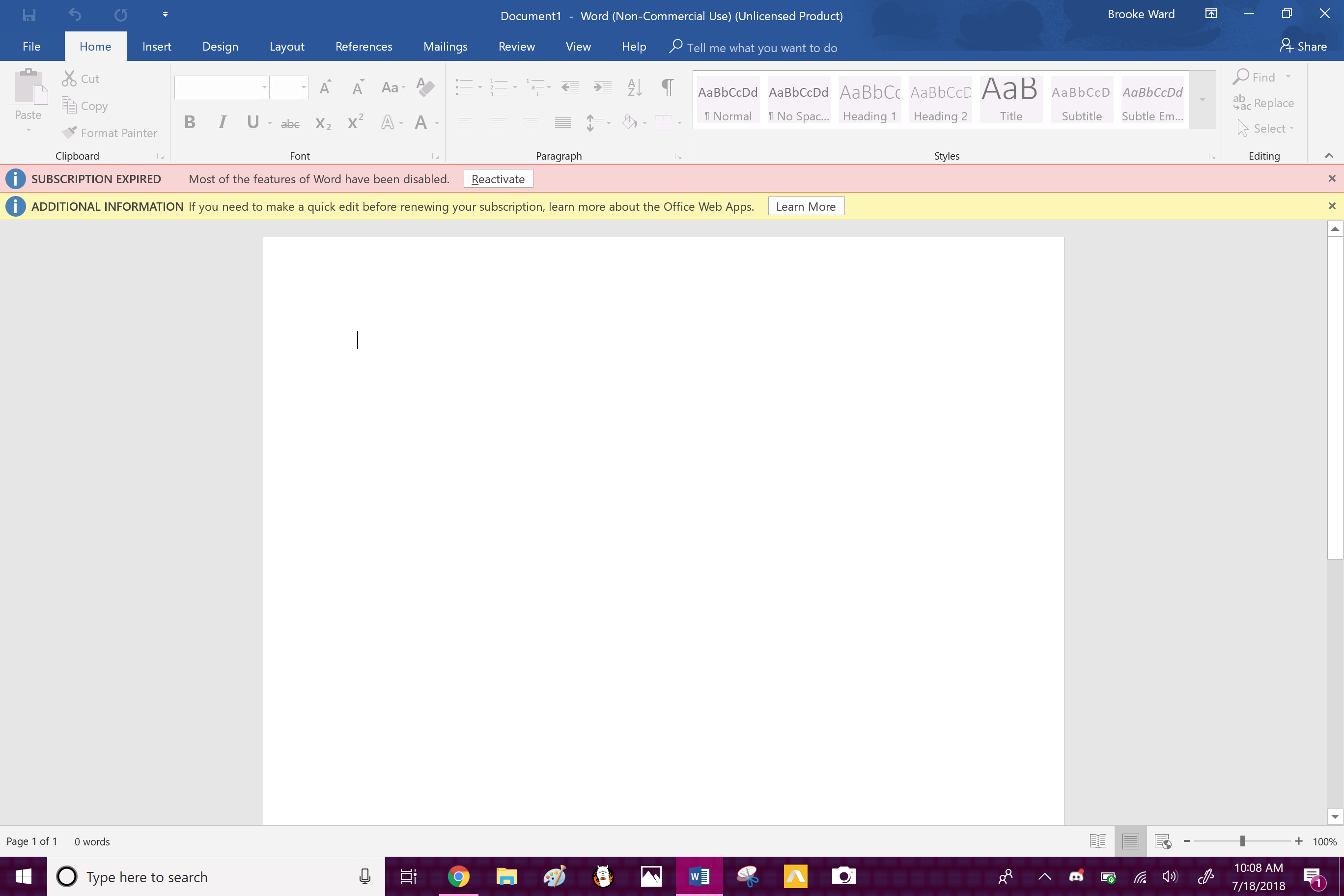 Why do I have to buy Office 365 just to use Word on my computer