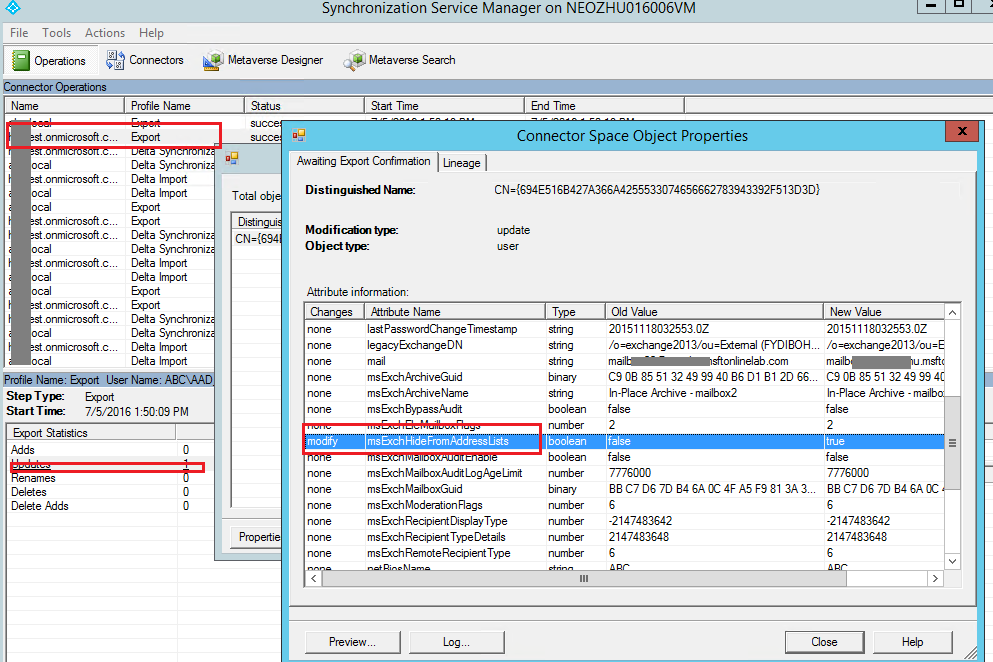 Hide from Address Lists not working - Office 365 Hybrid - Microsoft