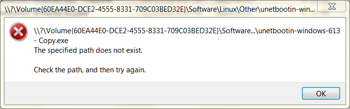 Path does not exist error - Microsoft Community