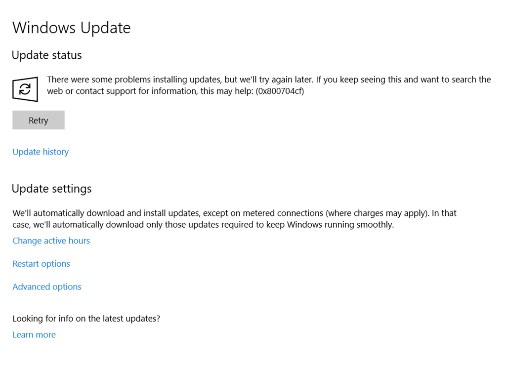 windows 10 microsoft account problem