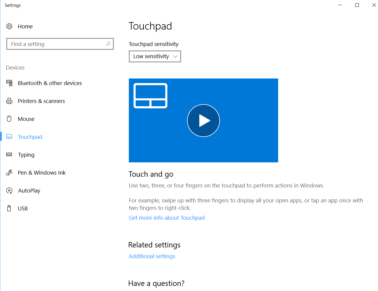 Touchpad: LOST OPTION to Disable the Touchpad when a Mouse