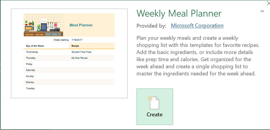 Help Weekly Meal Planner Excel Templates Microsoft Community
