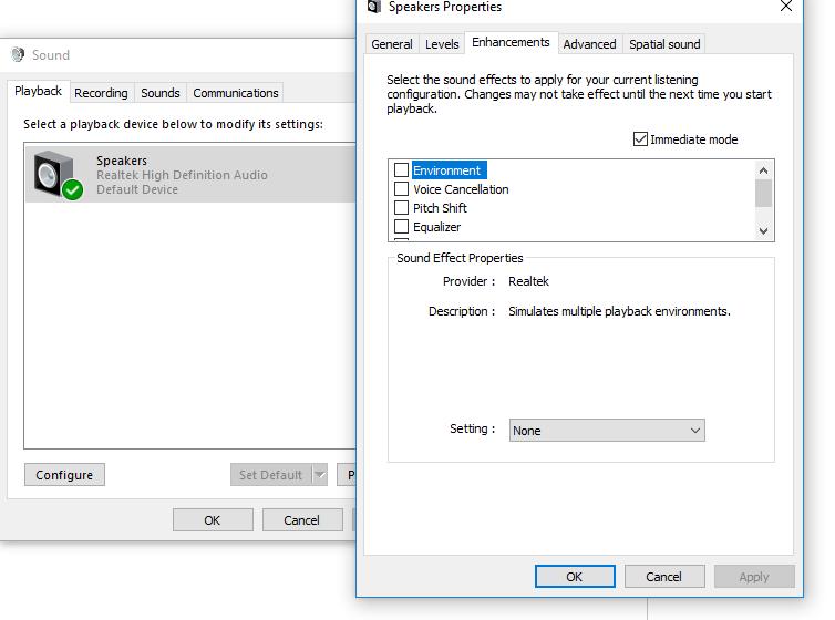 Windows 10 Realtek HD Audio Static with Headphones