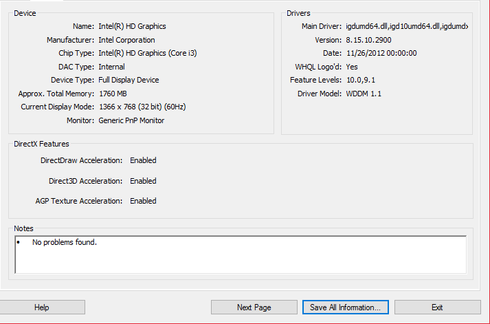 directx 11.0 feature level video card download