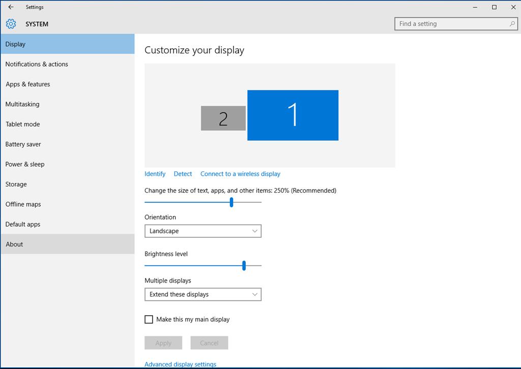 how to setup two monitors windows 10
