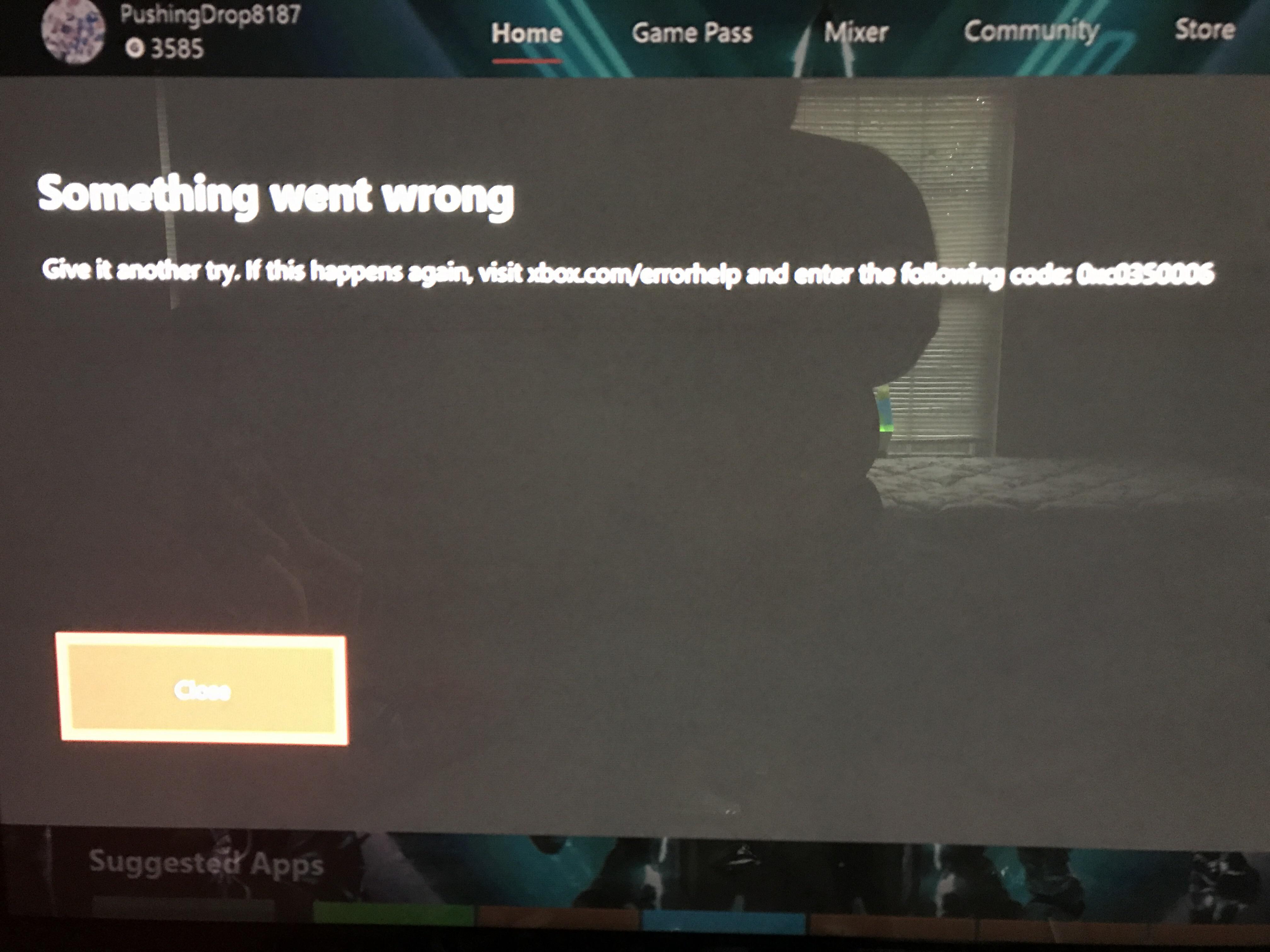 Something went wrong [IMG]