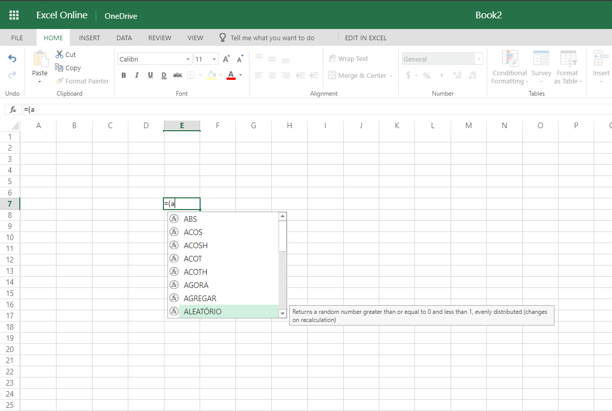 Is there any easy way to change Excel Online formula language ...
