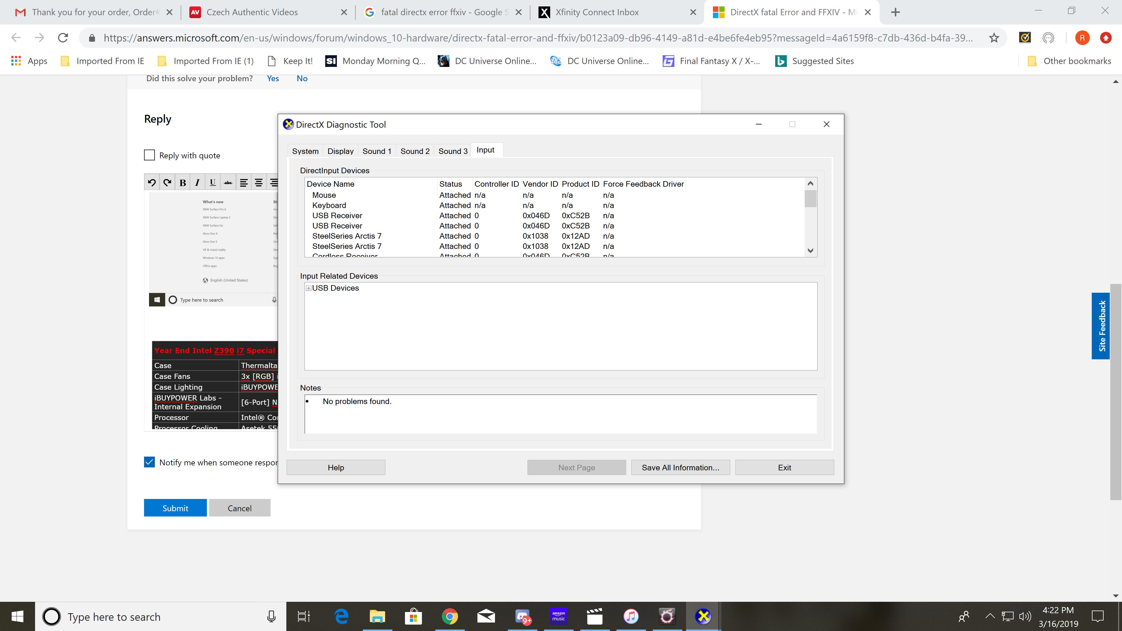 DirectX fatal Error and FFXIV - Microsoft Community