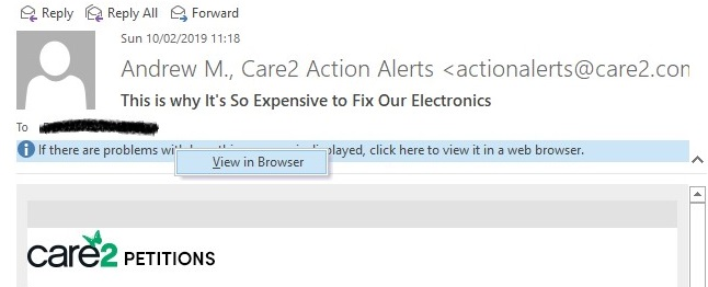 Links in emails open in IE instead of Default Chrome