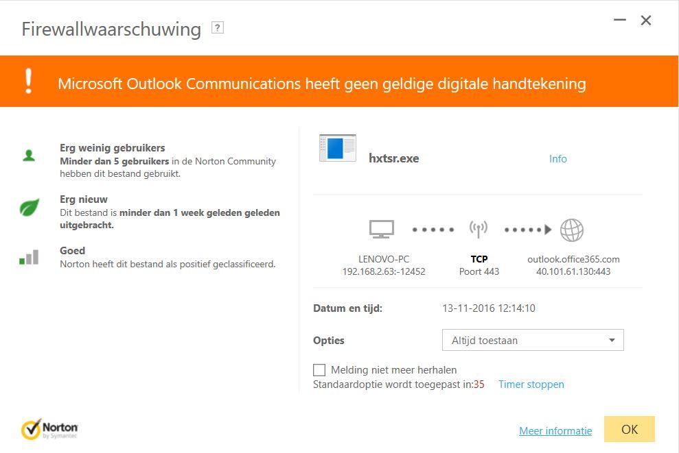 Certficaat fout hxtsr.exe - Microsoft Community