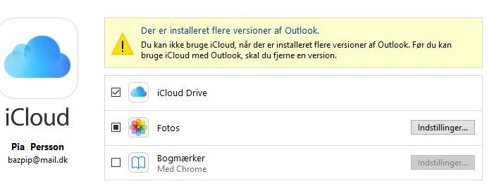 Jeg kan ikke bruge iCloud i kalenderen efter sidste opdatering af - Microsoft Community