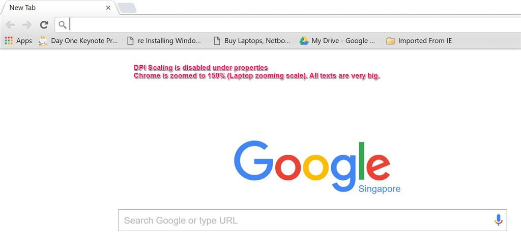 Blurry text on Chrome and Firefox browser (DPI Scaling) on