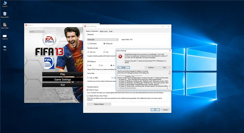 FIFA13 is not running in Windows 10 after updating to 1709