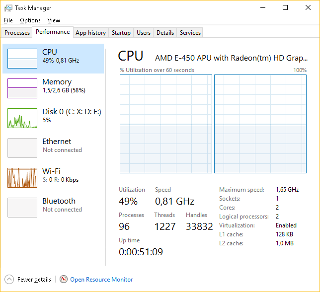 Windows 10 only use half of max cpu speed - Microsoft Community