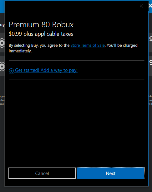Can T Buy Robux With Microsoft Balance Microsoft Community