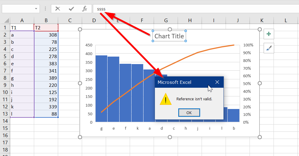 Excel 2016 Pareto Chart Title Issues Microsoft Community